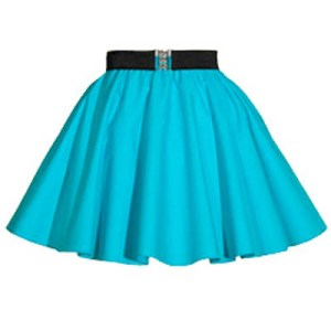 Childs Plain Peacock Blue  Circle Skirt