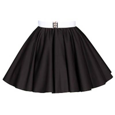 Childs Plain Black  Circle Skirt