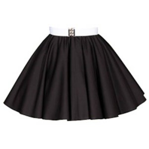 Sale – 17″ Plain Black Skirt (XSmall)