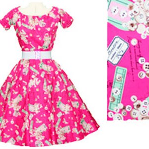 Cerise Labels 1950's Rock n Roll Dress