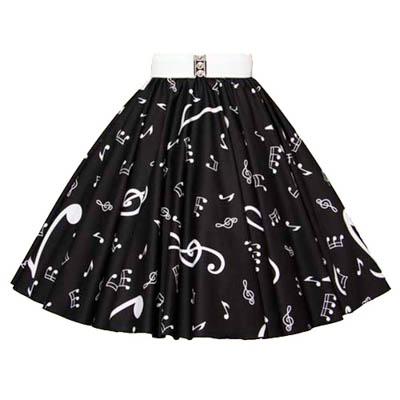 Sale -25″(Sml) Blk/Wht MN Skirt / Free Neck