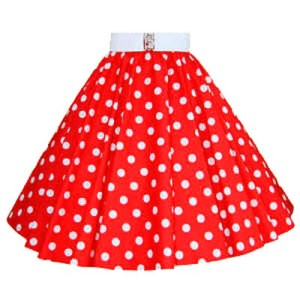 Red / White Polkadot Circle Skirt