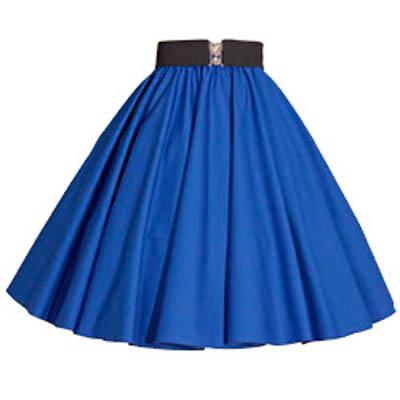 Plain Royal Blue Circle Skirt