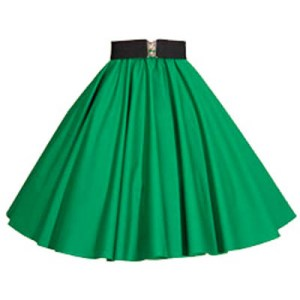 Plain Emerald Green Circle Skirt