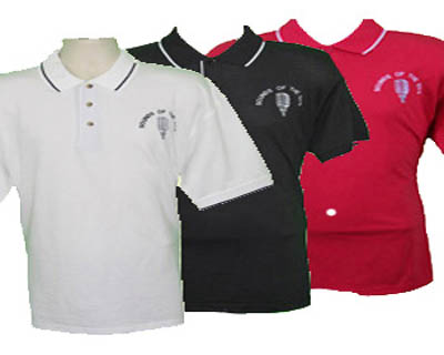 Mens Rock n Roll Embroidered Polo Shirts From