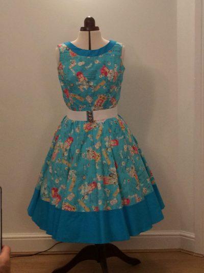 1950's Rock n Roll Contrast Dress