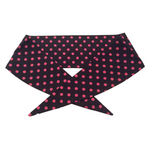 Ladies Black/ Pink 7mm PD Neckerchief