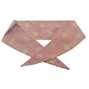 Ladies Pale Pink / White PD Neckerchief