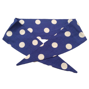 Ladies Royal Blue / White PD Neckerchief