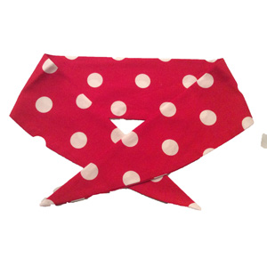 Ladies Red / White PD Neckerchief