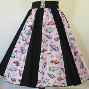 Classic Cars / Plain Black Panel Skirt