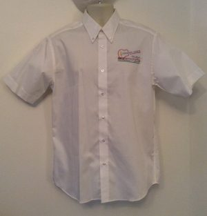 Ready Embroidered 187 White  Shirt (Size 16″)