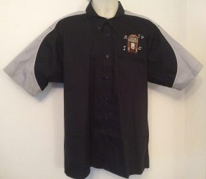 Ready Embroidered 186 Black / Grey Shirt (Size XLarge)