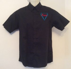 Ready Embroidered 187 Black Shirt (Size 15″)
