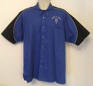 Ready Embroidered 186 Blue / Black Shirt (Size XLarge)