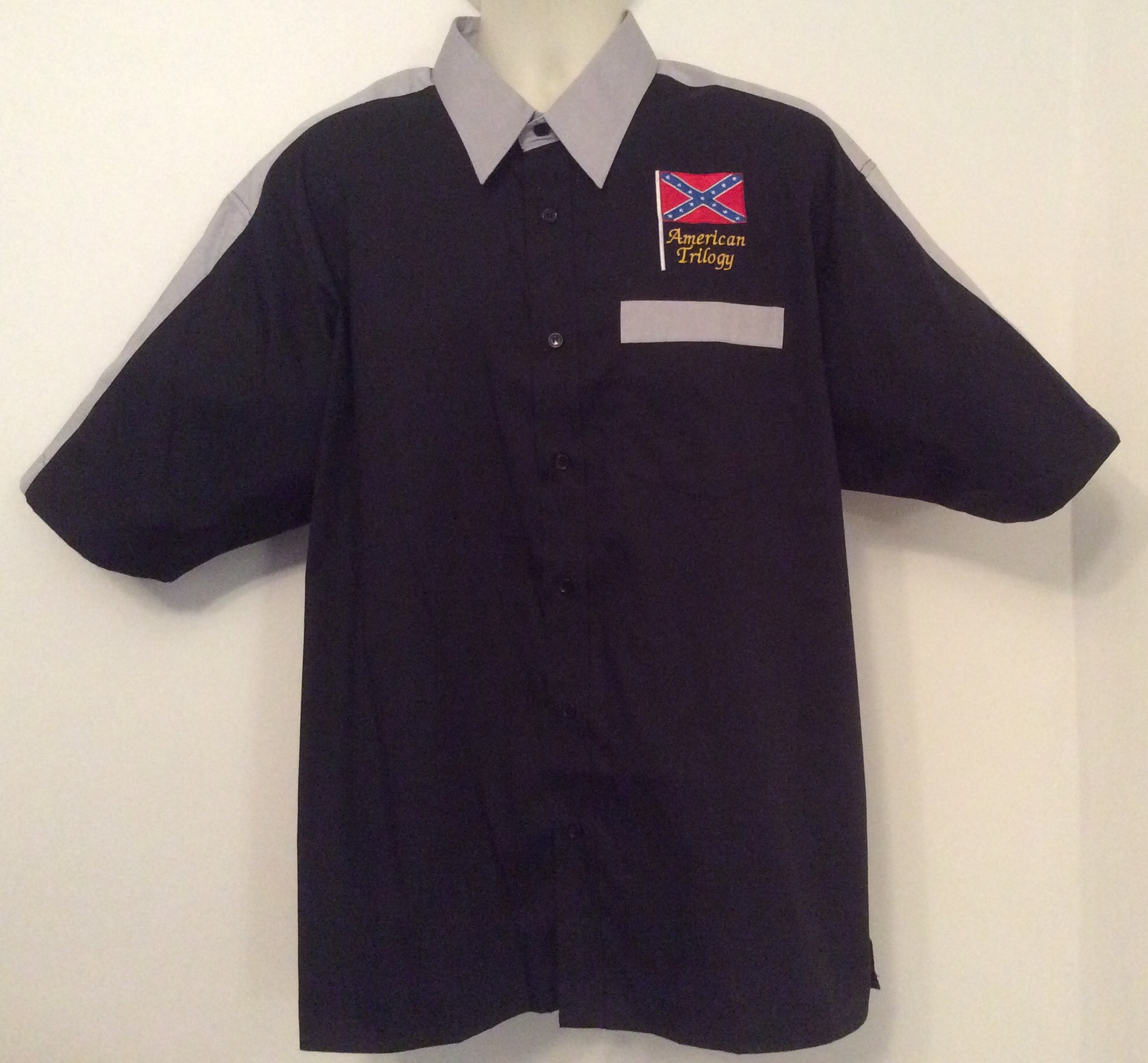 Ready Embroidered 175 Black / Gray Shirt(Size XLarge)