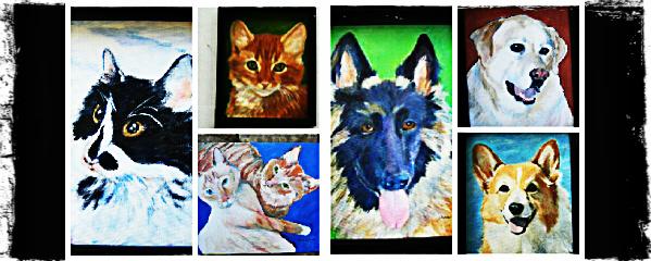 Pet Portraits by Deena