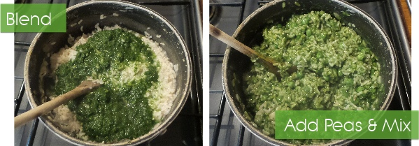 risotto for dogs mix peas