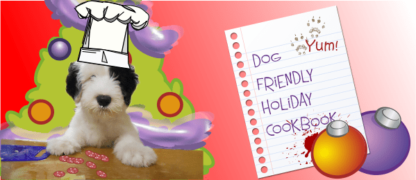 holiday dog treats cookbook cover