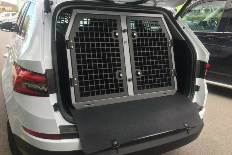 built in car dog crate
