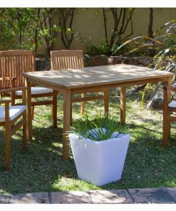 Conjunto de mesa com 4 cadeiras (150 x 90 x 75 cm) Teca
