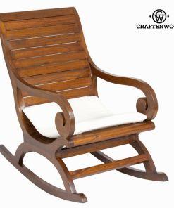 Cadeira de baloiço Madeira de cedro (120 x 100 x 60 cm) by Craftenwood