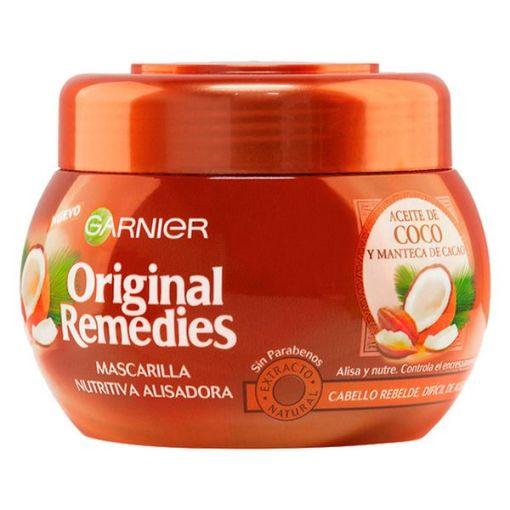 Máscara Capilar Nutritiva Alisadora Aceite De Coco Original Remedies Fructis (300 ml)