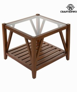 Mesa de centro com vidro - Serious Line Coleção by Craftenwood