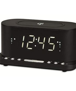 """Rádio Despertador com Carregador sem Fios Denver Electronics CRQ-110 12"""" LED USB Preto"""