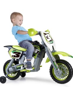 Motocicleta Feber Rider Cross 6 V Elétrica Verde (82 X 57 x 119 cm)