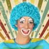 Peruca de Cabelo Encaracolado Palhaço Azul 119822