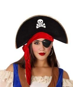 Chapéu Pirata Preto Vermelho 113904