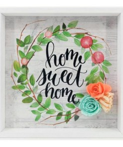 Pintura Home Sweet Home (21 x 21 x 2 cm) 115773