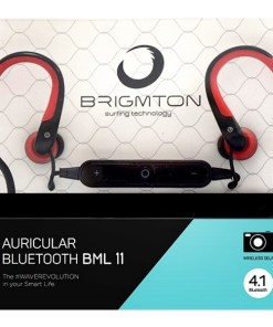 Auriculares Bluetooth com microfone BRIGMTON BML-11-R Vermelho