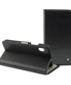 Capa tipo Livro para o Telemóvel Iphone Xs Max KSIX Preto