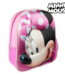 Mochila Escolar 3D Minnie Mouse 8096