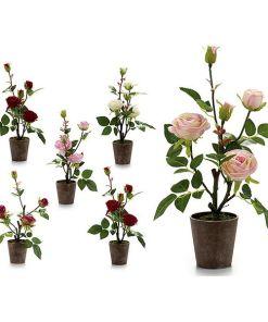 Vaso Cor de Rosa Plástico Bloemen 3