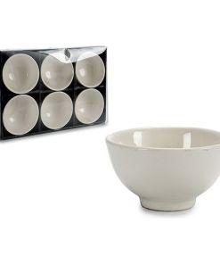 Conjunto de Tigelas Branco Porcelana (6 Peças) (11 x 5,5 x 11 cm)