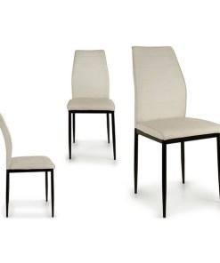 Cadeira de Sala de Jantar Metal Branca Metal (53 x 97 x 42 cm) Branco