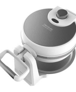 Máquina para Waffles Cecotec Fun Gofrestone Sphere 1000W Branco Prateado