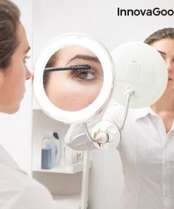 Espelho de Aumento LED com Braço Flexível e Ventosa Mizoom InnovaGoods