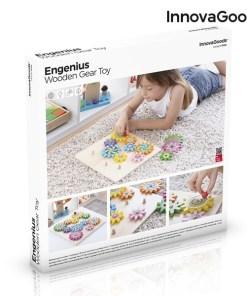 Jogo de Engrenagens de Madeira Engenius InnovaGoods 12 Peças