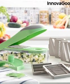 Cortador de Verduras, Ralador e Mandolina com Receitas e Acessórios 7 em 1 Choppie Expert InnovaGoods