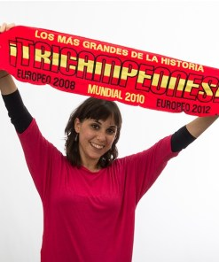 Cachecol Espanha Tricampeã