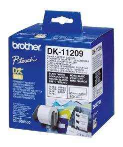Etiquetas para Impressora Brother DK11209 62 x 29 mm Branco