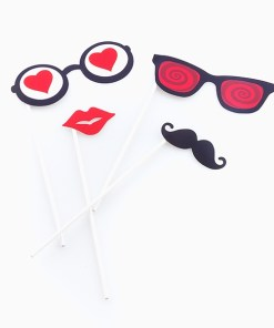 Acessórios Românticos para Fotos Divertidas Romantic Items (Pack de 5)