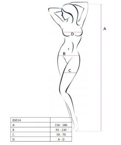 PASSION WOMAN BS014 BODYSTOCKING WHITE ONE SIZE