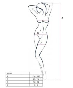 PASSION WOMAN BS017 BODYSTOCKING WHITE ONE SIZE