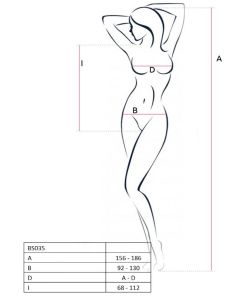 PASSION WOMAN BS035 BODYSTOCKING RED ONE SIZE