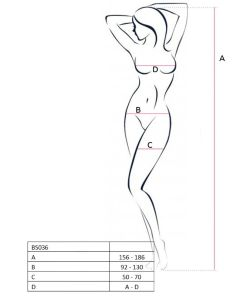 PASSION WOMAN BS036 BODYSTOCKING WHITE ONE SIZE